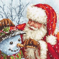 Santa Claus and Snowman LetiStitch 919