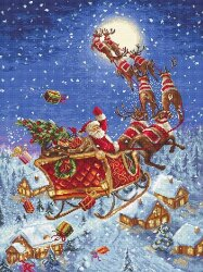 The reindeers on its way! LetiStitch 958