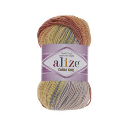 Пряжа Alize Cotton gold batik цвет 5508